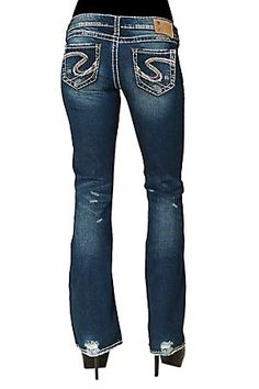 Silver Jeans - Suki Flap Bootcut Jeans | Clothing | Pinterest ...