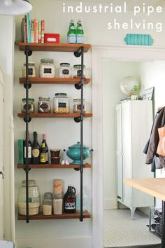How great is this DIY shelving from Farm Fresh Therapy?