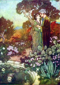 a Edmund Dulac (1882 – 1953) illustration for khayyam's rubaiyat
