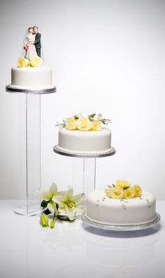 Banana Acrylic 3 Tier Wedding Cake Stand