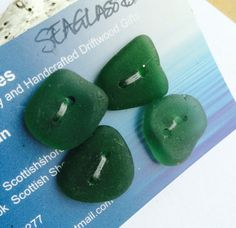 Beautiful hand madeScottish Sea Glass Buttons  B by ScottishShores
