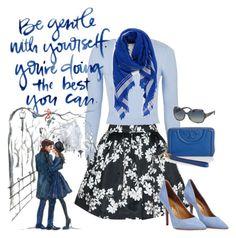"""Color Series:  Blue Spectrum"" by briannaandrews500 ❤ liked on Polyvore featuring mode, Alice + Olivia, Topshop, Tory Burch en Salvatore Ferragamo"