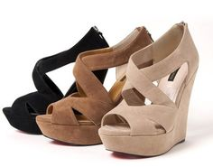 Cheap shoe keeper, Buy Quality sandals clothing directly from China shoes for the sea Suppliers: Women's Wedge High Heels Platform Back Zip Sandals Shoe EU 35 to EU 39 3 Colour Choice with a tracking number Crazy Shoes, Me Too Shoes, Shoe Boots, Shoes Sandals, Ugg Boots, Women Sandals, Wedge Sandals, Wedge Shoes, Look Chic