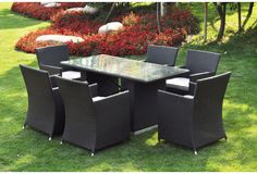 I Love Living 'Ena' 7-piece Outdoor Dining Table Set