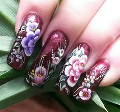 A new twit on something old. One Stroke Painting, Painting Tips, Les Nails, One Stroke Nails, Something Old, Nails Magazine, Nailart, Nail Designs, Flower