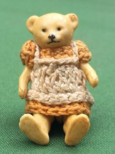 ANTIQUE MINIATURE ALL BISQUE HERTWIG TEDDY BEAR DOLL BABY BEAR ALL ORIGINAL