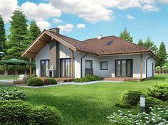 projekt Leno V Merlin Home, Abayas, Bungalow, My House, House Plans, Lens, Villa, Gardens, Houses