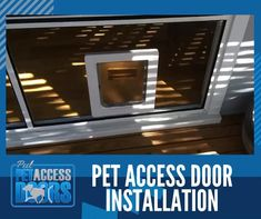 Let your dog and cat freely get in and out of the house by itself!🐩🐕🐈   Let us install an awesome pet access door for you! ☑️