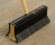 Instead of dusting off the book, let the book do the dusting.