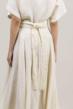 Wrap Skirt, Cream by Black Crane @ Kick Pleat - 2