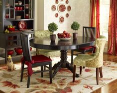 Pier one dining table with 4 chairs