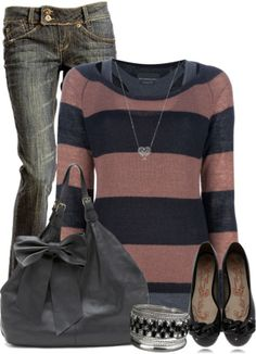 Casual Outfits | Simple  MAISON SCOTCH sweater, skinny jeans, CLAUDIA GHIZZANI flat shoes, Shoulder Bag  by cindycook10