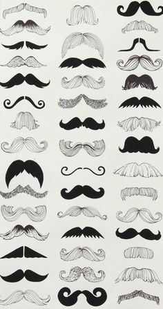 How do you wear your stache? style your stache tips by Alexander Henry Fabric Where's My 'Stache Natural By the Yard