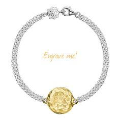 Cherish the moment - Engravable jewellery bracelet - Dower and HAll