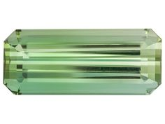 Mean green tourmaline. If you're looking to start a personal collection, try tourmaline! | Untreated Brazilian Green Tourmaline 4.94ct 15.63x6.5mm Emerald Cut