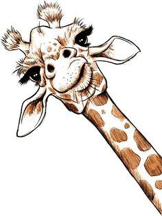 'Sketch Giraffe Art' Sticker by JonThomson - Portrait - Tiere - Art Sketches Pencil Art Drawings, Art Drawings Sketches, Cute Drawings, Art Sketches, Simple Sketches, Beautiful Sketches, Giraffe Painting, Giraffe Art, Cute Giraffe Drawing