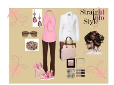 """""""WEARING PINK AND BROWN ON A SUMMER AFTERNOON LUNCH DATE"""" by erin-connor on Polyvore"""