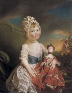 Attributed to Johann Zoffany R.A. (1733-1810) Portrait of Charlotte Augusta Matilda.