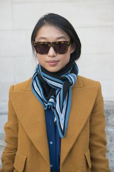 Pin for Later: How to Dress For Spring When It's Still Kind of Cold Outside Put Your Scarf to Good Use Use a light scarf for more than just a little something extra: let it replace your fleece options as things start to warm up.