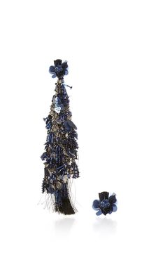 Fantasy Earrings In Black And Navy by JOHANNA ORTIZ for Preorder on Moda Operandi