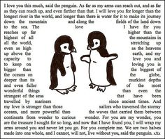 You're my penguin...