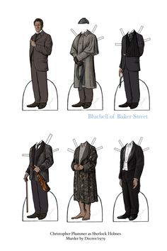 Sherlock Holmes paper doll: Christopher Plummer as Sherlock Holmes - Murder by Decree - 1979 - Number 23