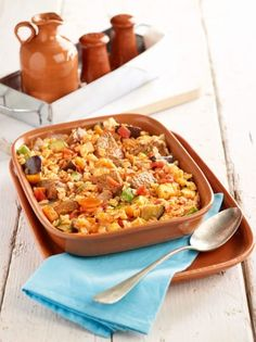 Cookbook Recipes, Cooking Recipes, Greek Recipes, Types Of Food, Paella, Fried Rice, Pasta Salad, Love Food, Food Porn