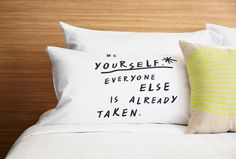 Quote pillow.