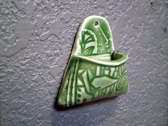 Ceramic Wall Pocket Air Plant Holder by spinningstarstudio on Etsy