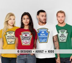 36cbd56e Matching Shirts, Family Costume Tshirts | Best Friends Tees, Funny T Shirt  Families, Adult Men Women Kids, Ketchup Mustard Mayo Pickles Set