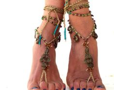 Native America Barefoot Sandals Barefoot Beach by SoftCrystal