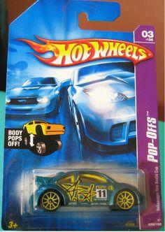 Volkswagen New Beetle Cup 2007 Hot Wheels Pop-Offs - Diecast-Modern Manufacture