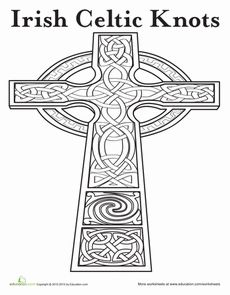 free coloring pages celtic cross - photo#12