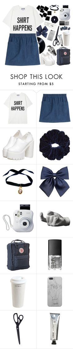 """✿ everything's black and white, no grey"" by falloutjadyn ❤ liked on Polyvore featuring Moschino, A.P.C., Bisou Bijoux Ariela, Fujifilm, Areaware, Fjällräven, NARS Cosmetics, H2O+, Mr. Coffee and HAY"