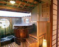 Rooms with a private open-air bath