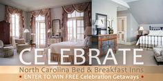 Enter to win celebrations getaways to North Carolina Bed and Breakfast Inns (NCBBI) member Duke Mansion in Charlotte!