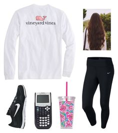 """""""costume shopping and homework today"""" by mackenziejameson ❤ liked on Polyvore featuring Vineyard Vines, NIKE and Lilly Pulitzer"""