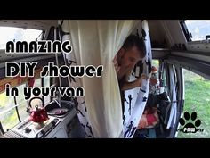 How to SHOWER INSIDE a tiny van - YouTube