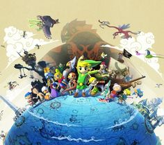 Explore the world of Wind Waker!(want this game soooo bad!)