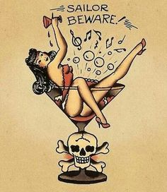 First favorite Sailor Jerry Tattoo, sans scull and writing... <3<3<3