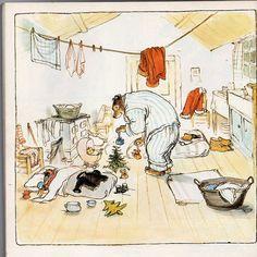 Ernest & Celestine by Gabrielle Vincent Winter Illustration, Christmas Illustration, Children's Book Illustration, Ernest Et Celestine, Pig Pics, Kids Market, Postcard Art, Beautiful Drawings, Pics Art