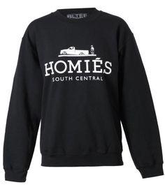 Unisex 'Homies' Cotton Sweatshirt by Brian Lichtenberg