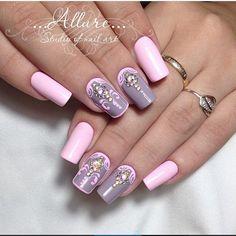 @allure_nails74⠀⠀⠀⠀⠀⠀⠀⠀⠀⠀⠀⠀⠀⠀⠀⠀⠀⠀⠀⠀⠀⠀⠀⠀#nm_вензеля⠀⠀⠀⠀⠀⠀⠀⠀⠀⠀⠀⠀⠀⠀⠀⠀⠀⠀⠀⠀#nm_инкрустрация Glamour Nails, Gelish Nails, Nail Patterns, Healthy Nails, Beautiful Nail Designs, Hair Today, Long Nails, Nail Art Designs, Nails Design