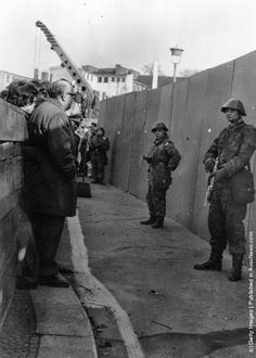 A barricade erected by the East German authorities to strengthen the existing barriers dividing East and West Berlin. (Photo by Central Press/Getty Images). World History Facts, History Photos, West Berlin, Berlin Wall, East Germany, Berlin Germany, Marie Curie, Military Photos, Military Art