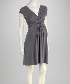 Take a look at this Gray Knot Maternity Dress by Leone Maternity on #zulily today! $24.99, regualr 75.00