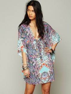 Mara Hoffman for Free People Midnight Goddess Poncho at Free People Clothing Boutique
