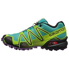 Salomon Womens Speedcross 3 Trail Running Shoe Teal Blue  10 with Free 70 Lu ** Check out this great product.