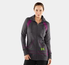 Women's Mikado Full Zip Fleece Hoody | Currently sold out. DAMN! I want this!! #UAWishList