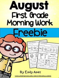 Morning Work Freebie: First Grade August Packet (Back to S