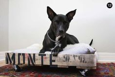 DIY Reclaimed Wood Dog Bed // Easy DIY Gifts for Your Dog